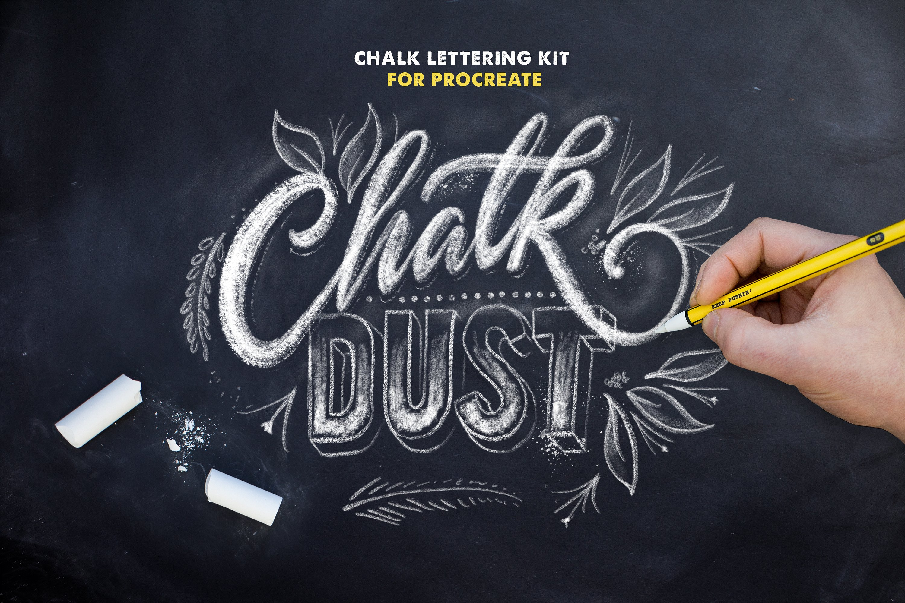 Chalk Dust Brush Kit  For Procreate