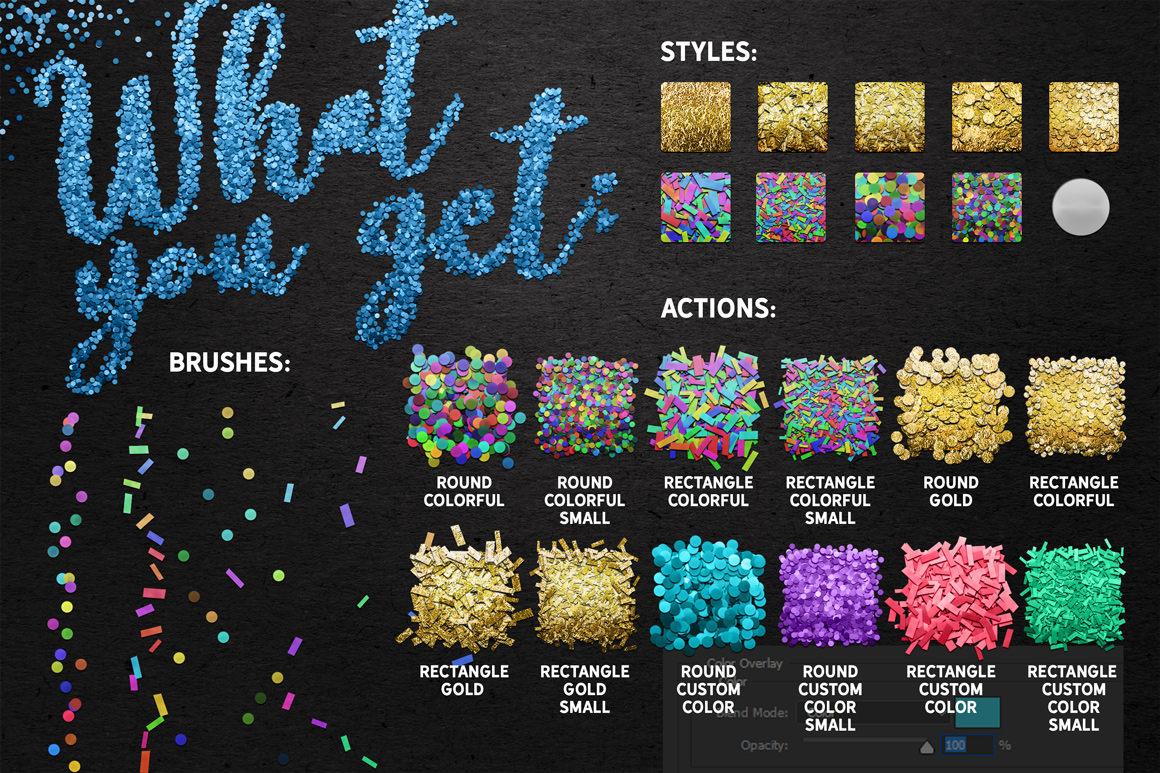 Confetti Creative Toolkit For Photoshop
