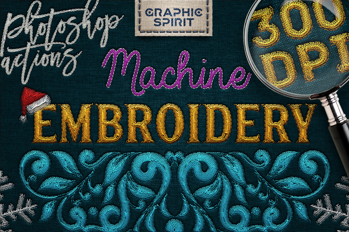 Machine Embroidery Photoshop Toolkit