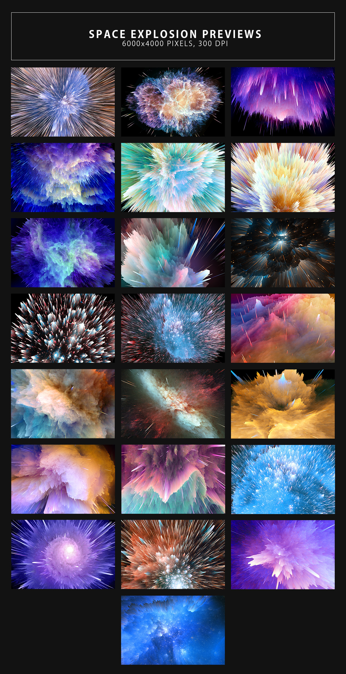Space Explosion Backgrounds