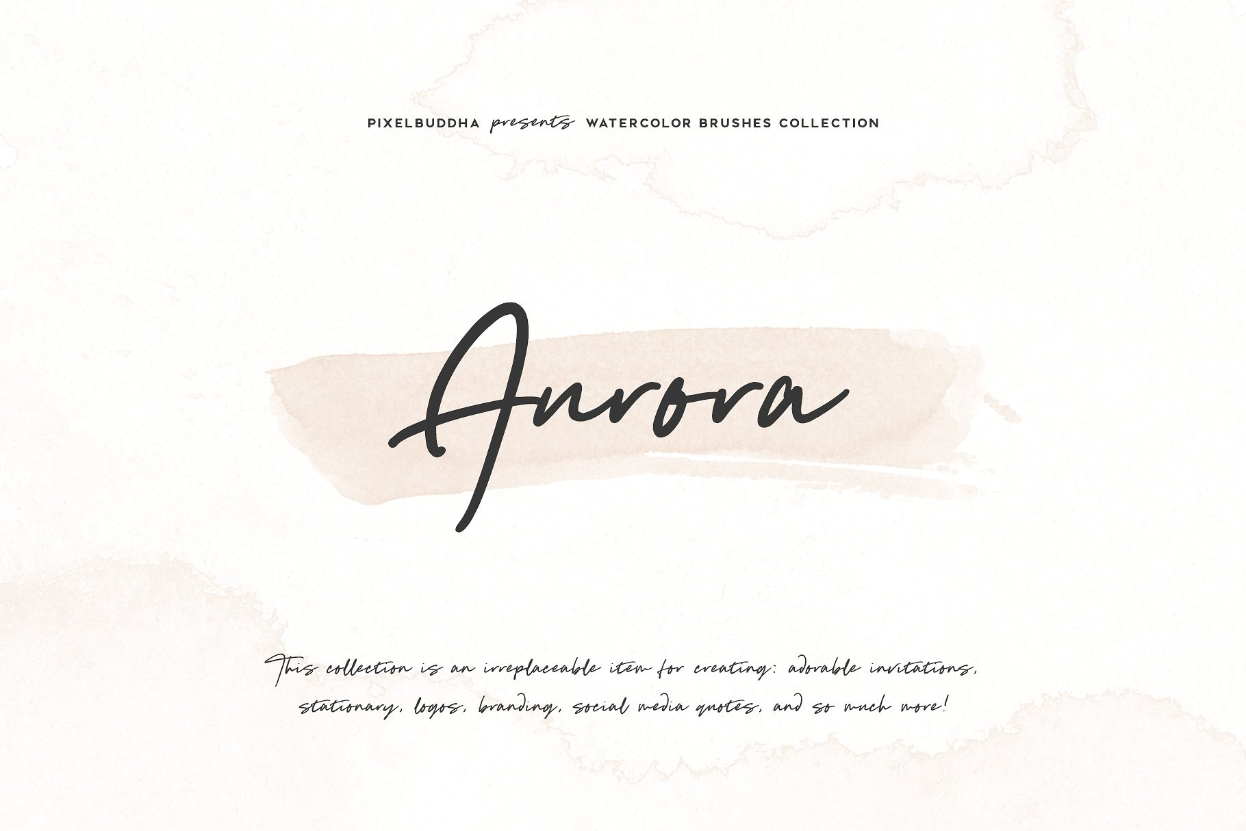 Aurora Watercolor Brushes Collection