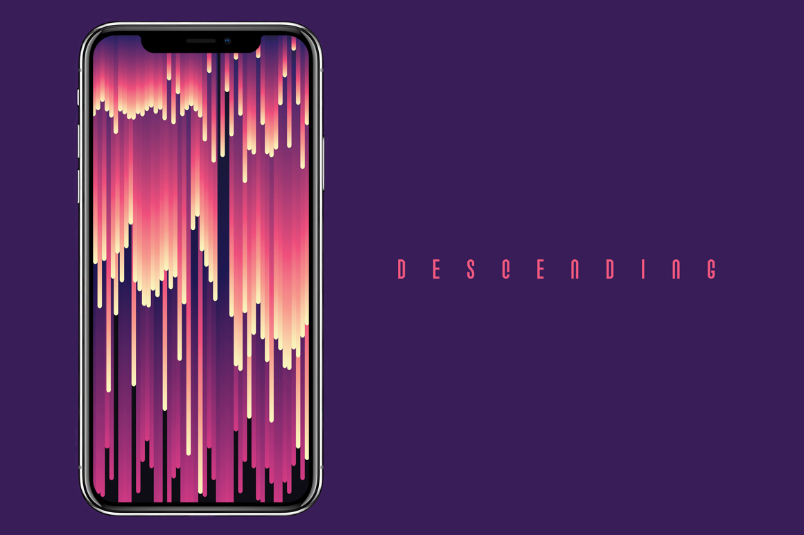 Descending Glitch Design Elements