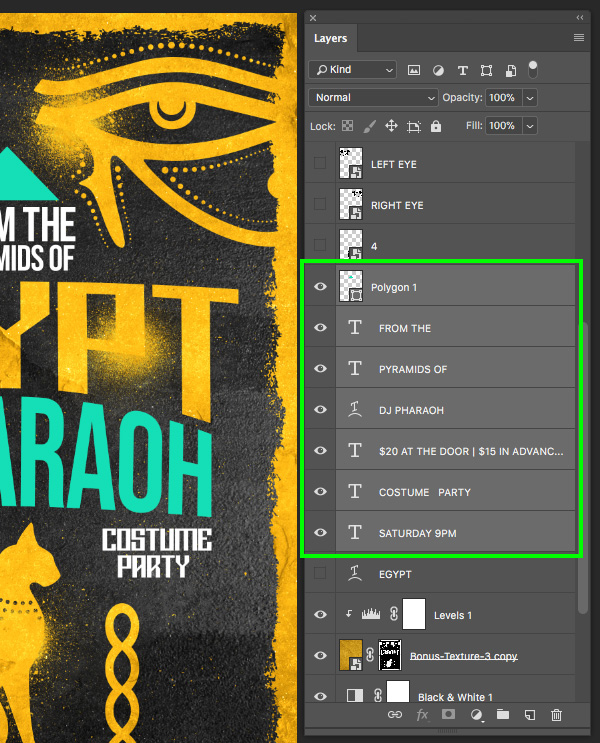Create an Egyptian Themed Gig Poster in Photoshop