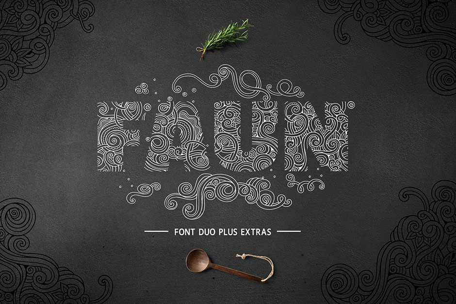 Faun Font Duo - font for drawing