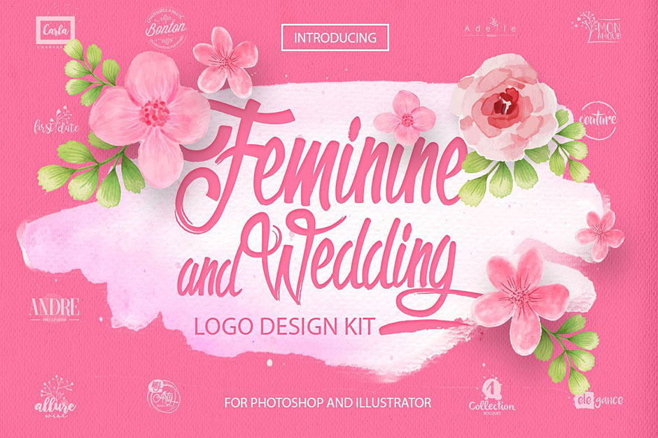 Feminine & Wedding Design Kit