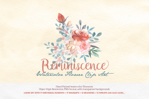 Reminiscence Watercolor Clip Art