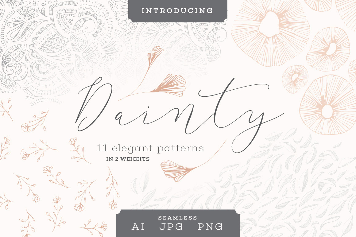 11 Dainty Patterns