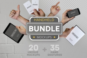 Handheld Mockups Bundle