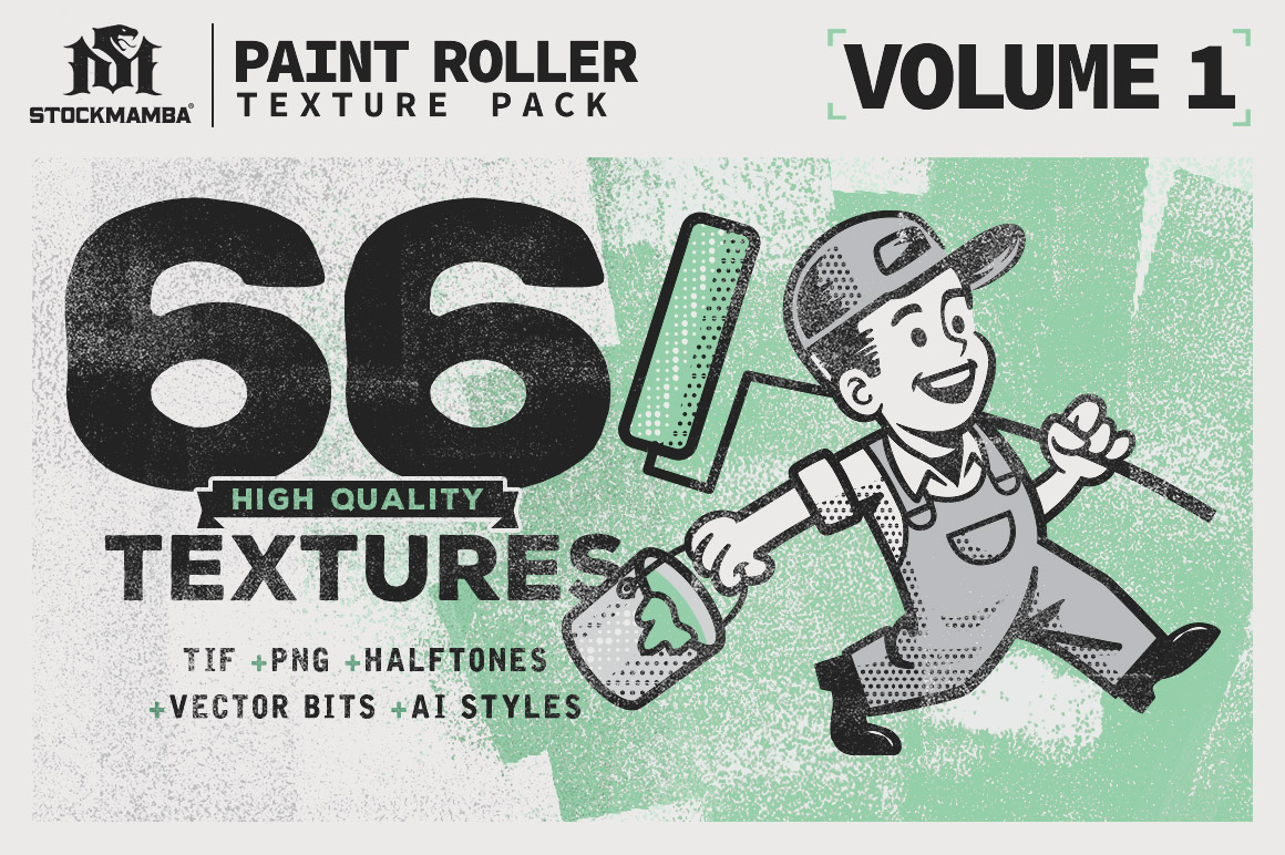 Paint Roller Texture Pack Design Cuts