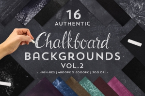 16 Authentic Chalkboard Backgrounds Vol 2