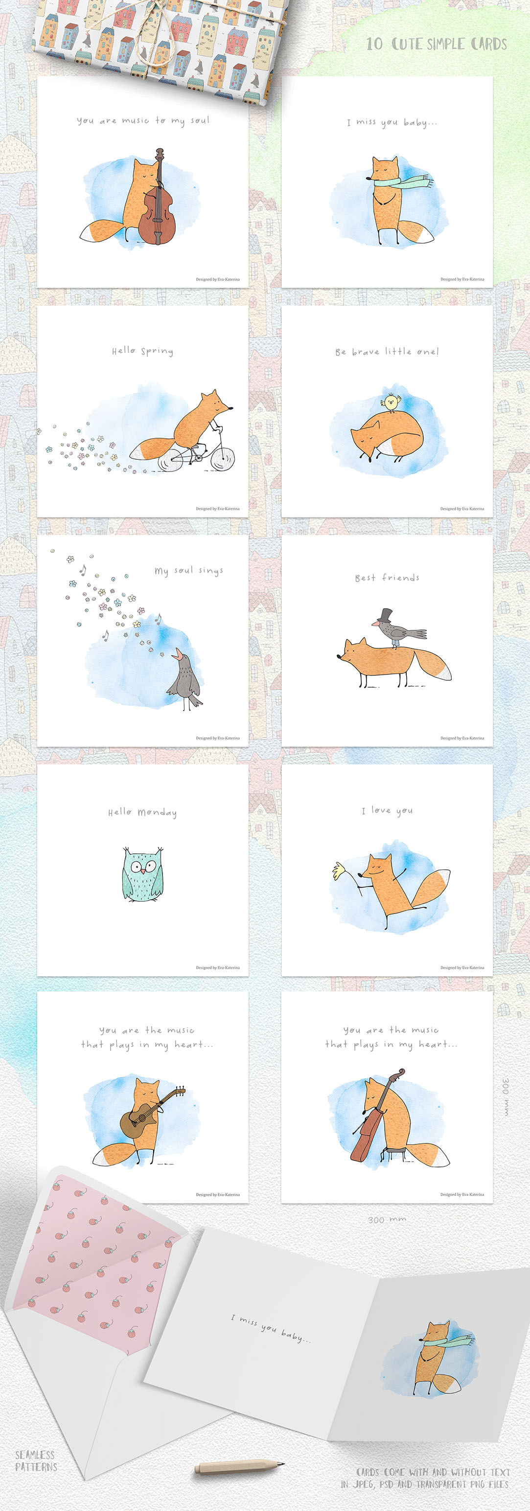 Foxtrot: Cute Vector & Watercolor Graphics