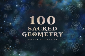 100 Sacred Geometry Vectors