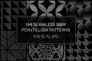 144-Seamless-Pointillism-Patterns-Pack-cover