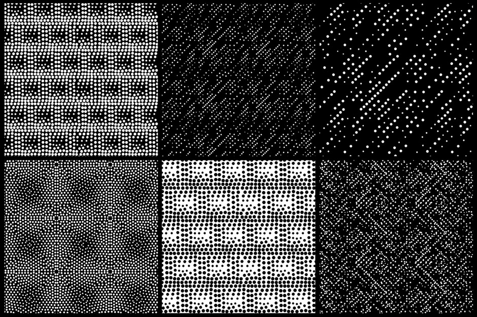 144 Seamless Pointillism Patterns Pack