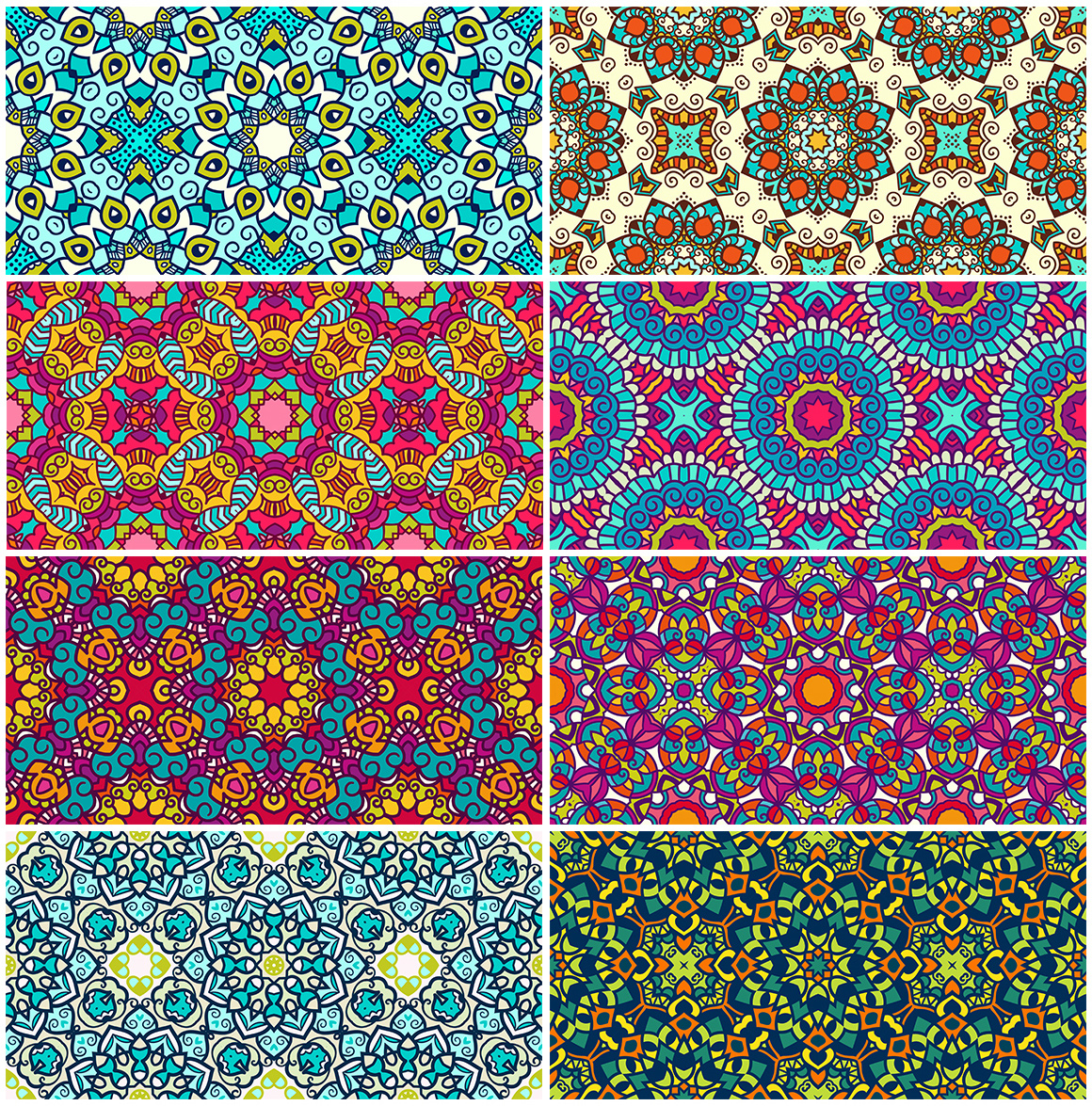 55 Ethnic Seamless Pattern Set