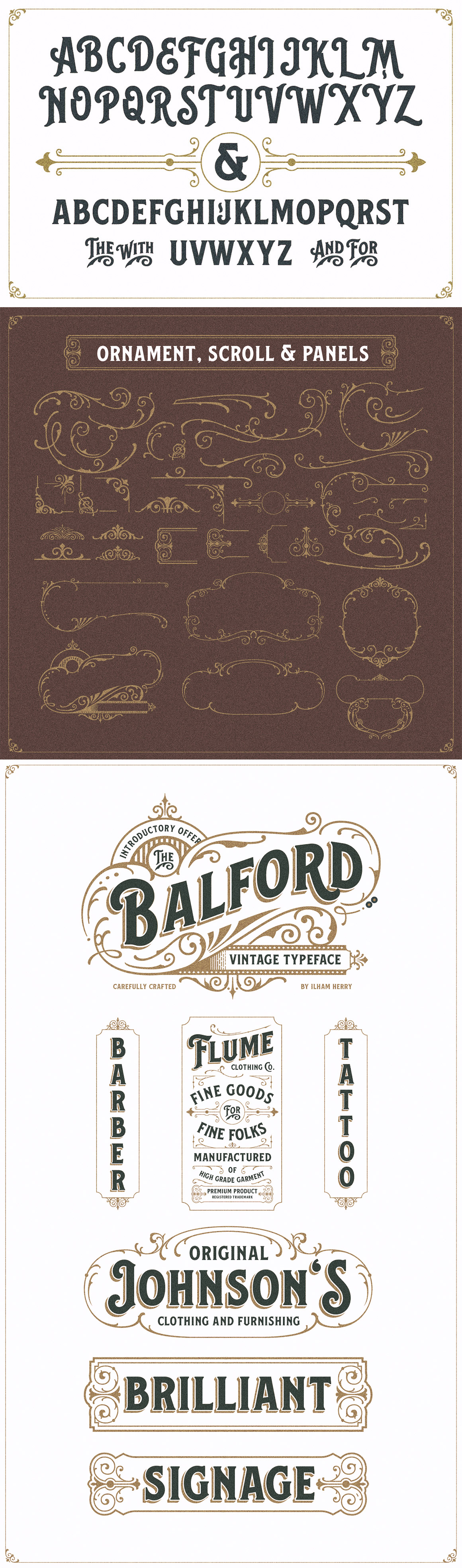 balford font and ornament free download