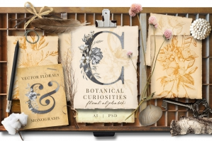 Botanical Curiosities Monograms
