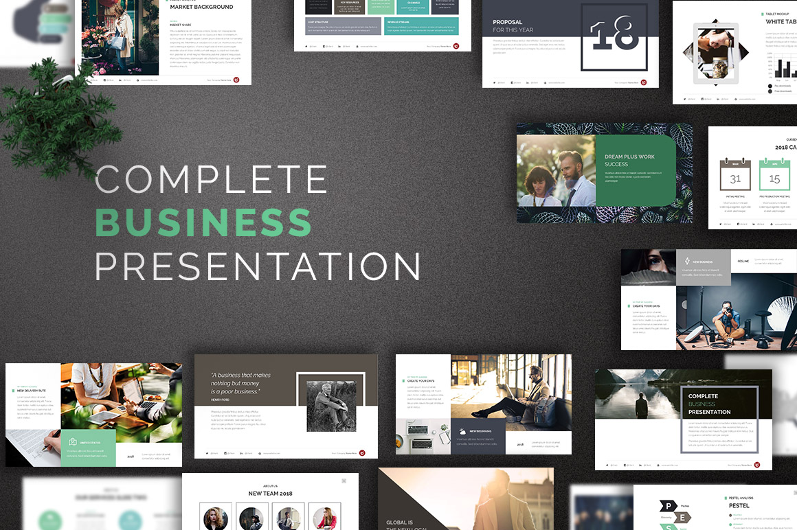 Complete Business Powerpoint Template - Design Cuts