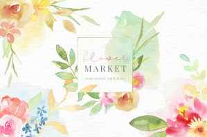 Flower-Market-Watercolor-Collection-cover