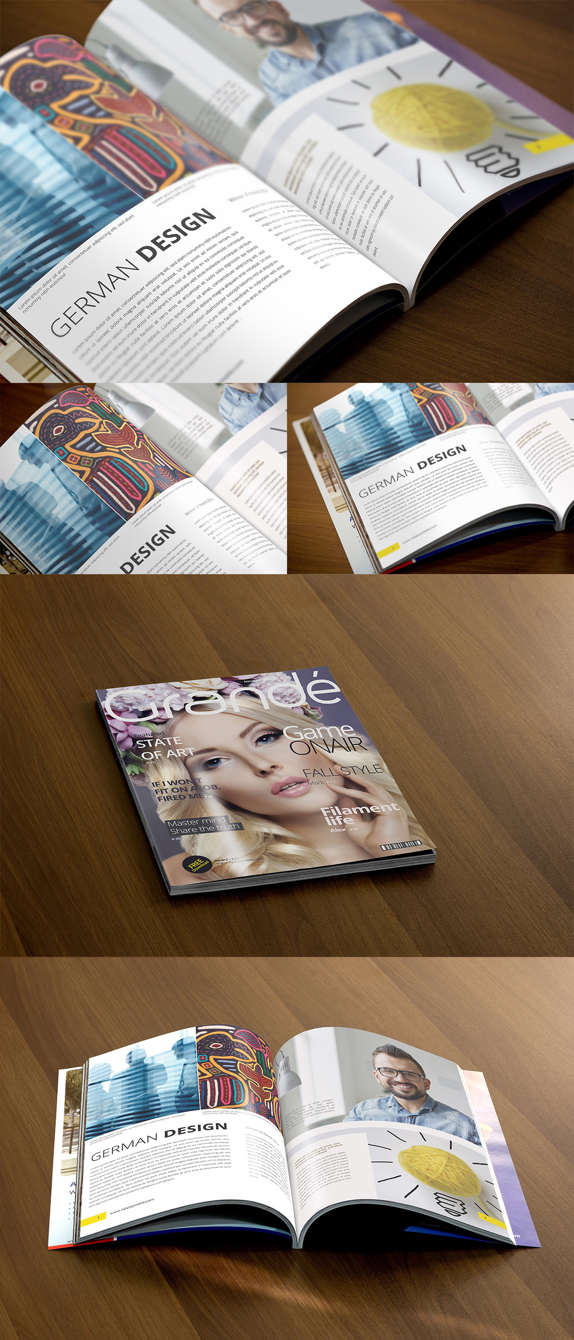 Beautiful Magazine Mockups Package