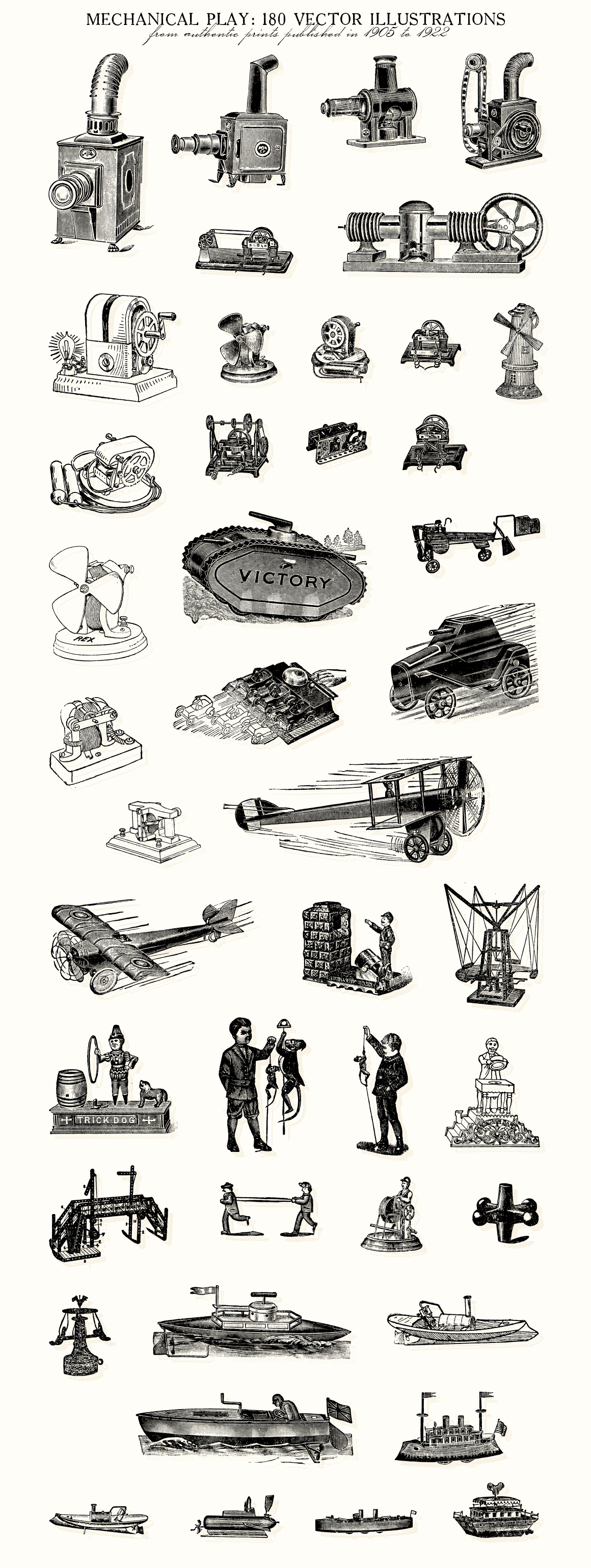Mechanical Play: 180 Vintage Toys
