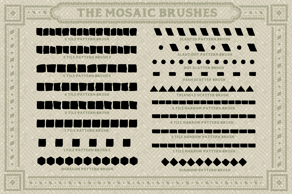 Mosaic Maker – Brushes & Patterns - Design Cuts