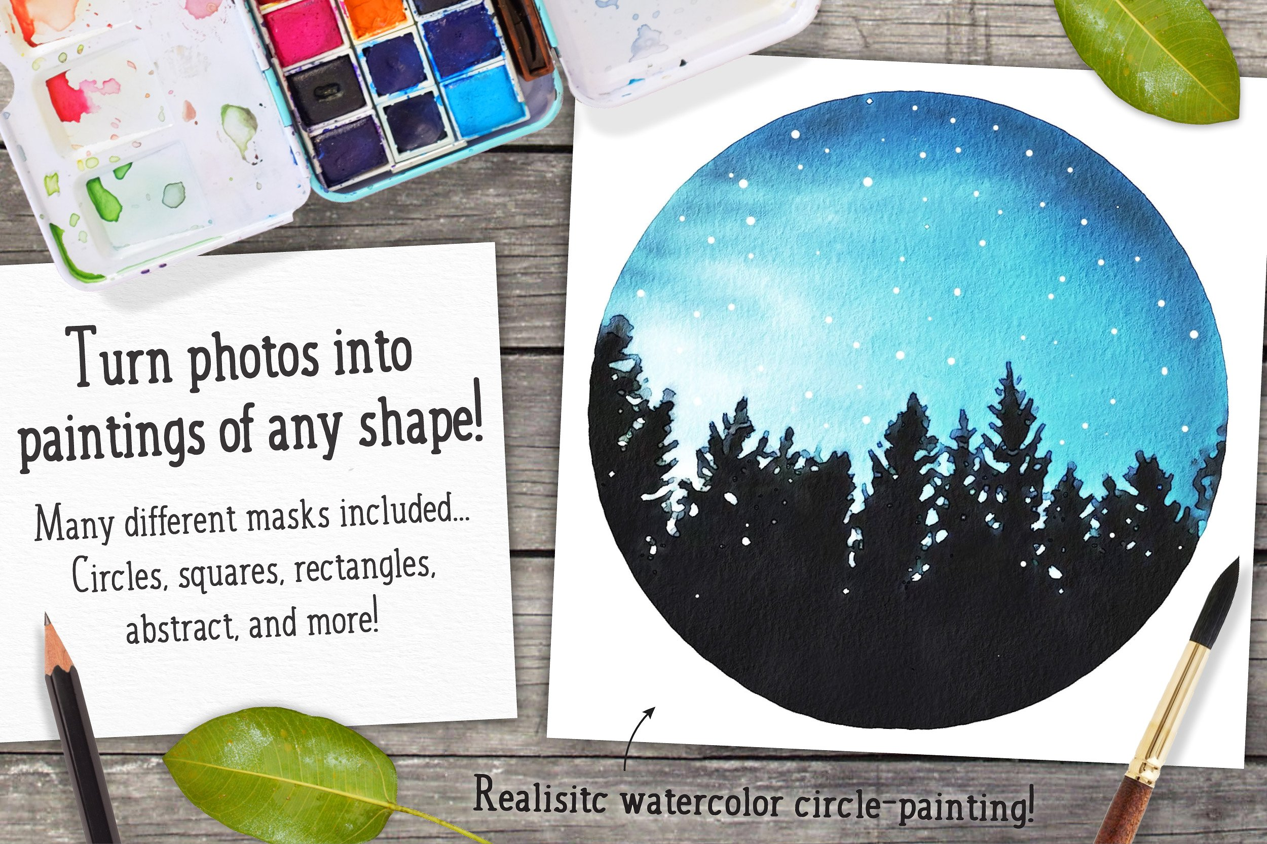 Watercolor Photo Effect Pro For Photoshop