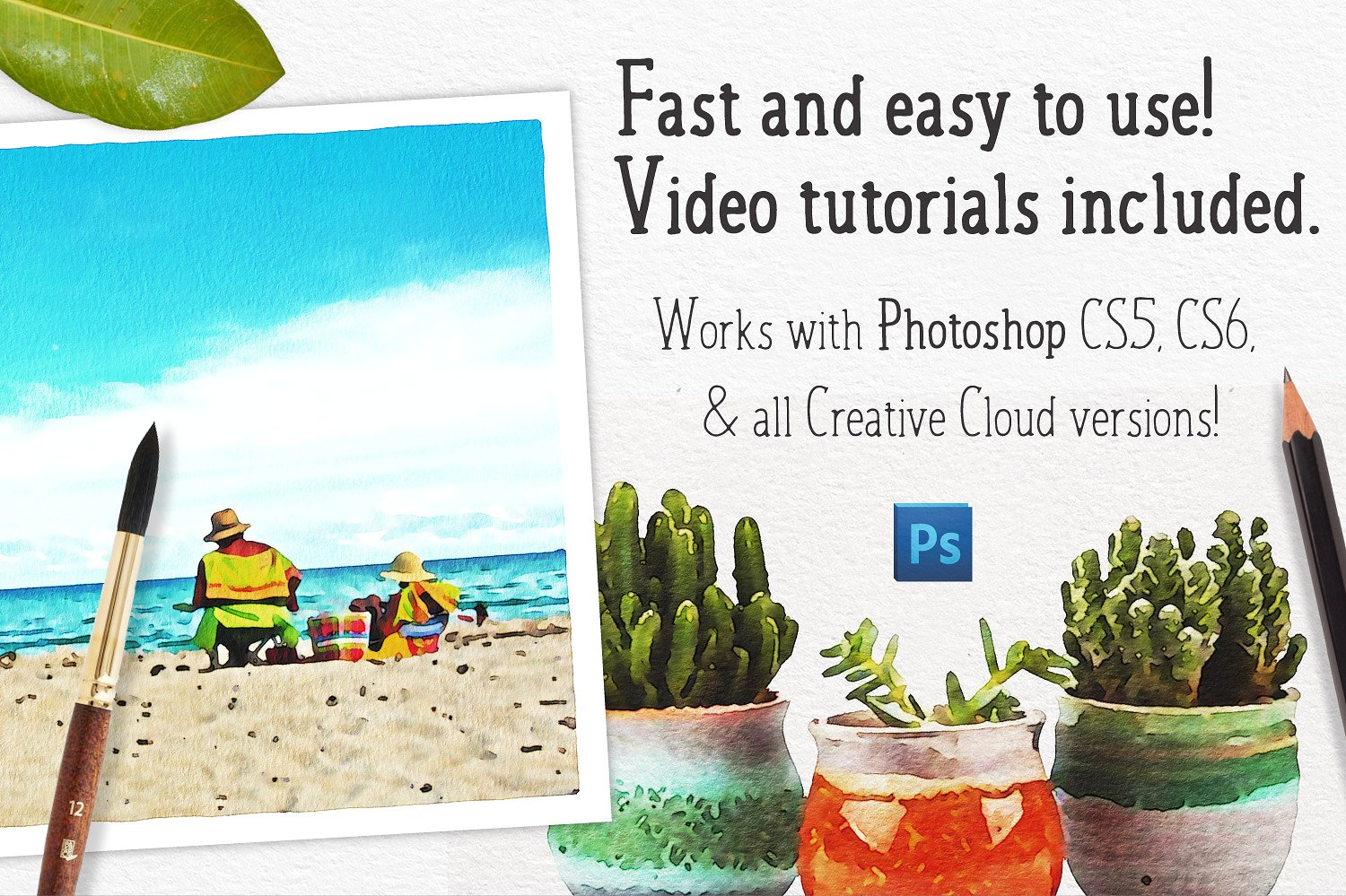 Watercolor Photo Effect Pro For Photoshop - Design Cuts