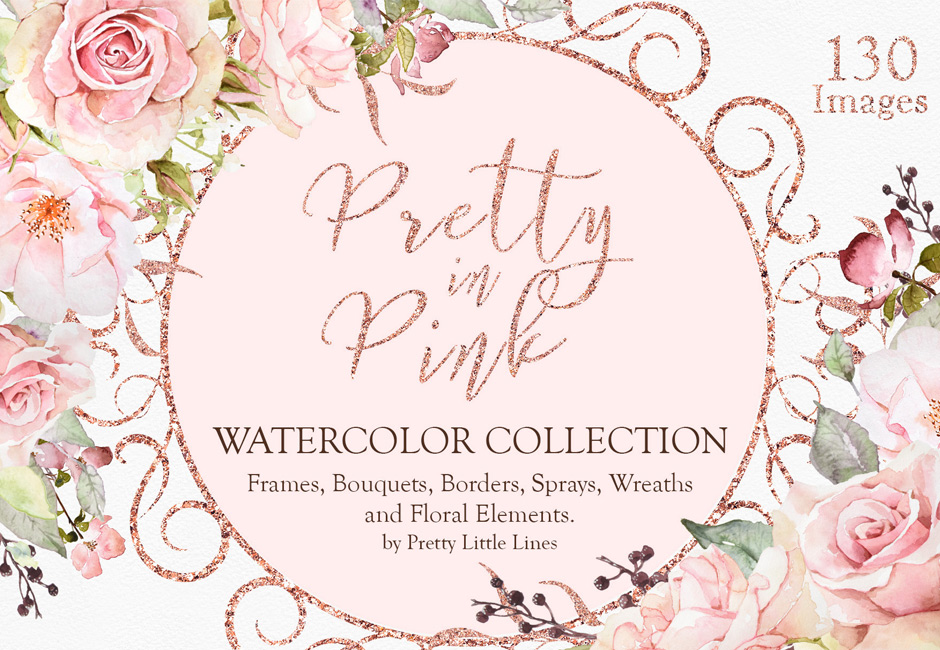 Pretty in Pink Watercolour Collection