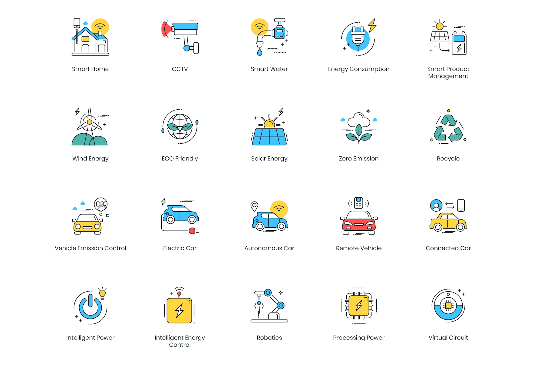 88 Smart Technology Icons