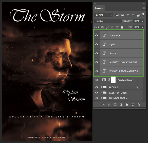 The Storm Concert Poster Design