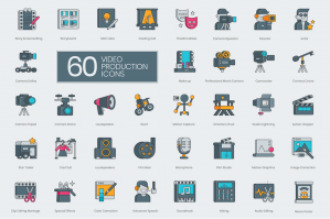 60 Video Production Icons