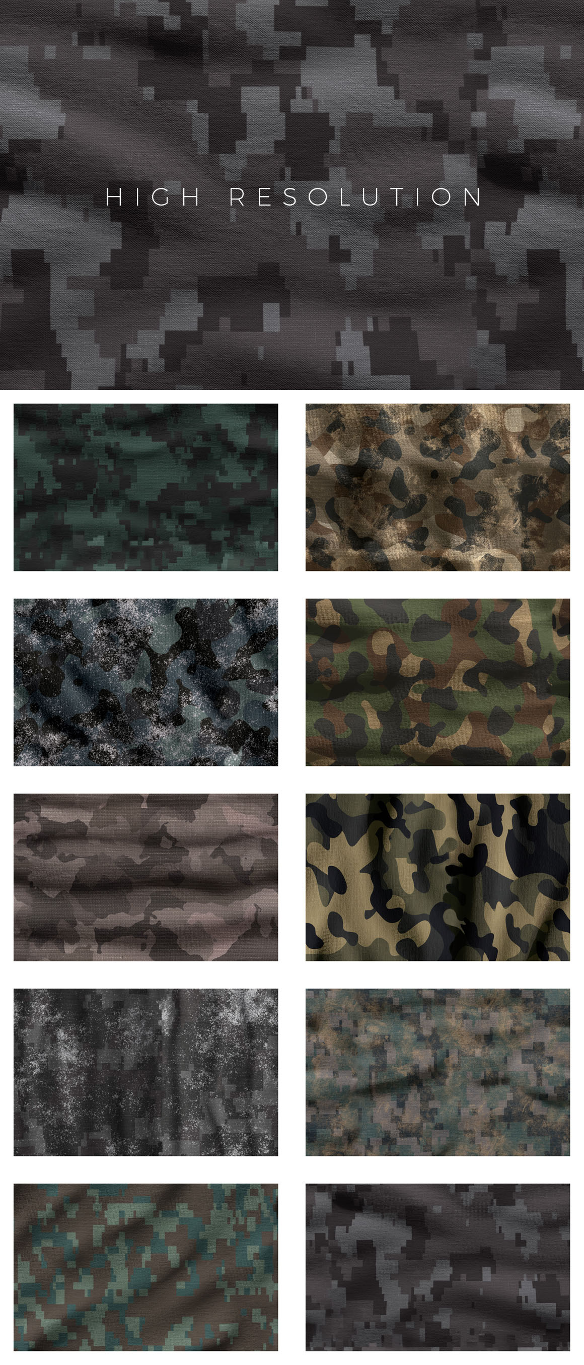 3D Camouflage Patterns For Photoshop