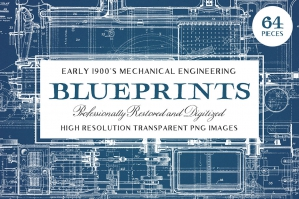 64-Vintage-Mechanical-Blueprints-cover