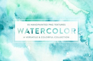 85 Watercolor Textures + Extras