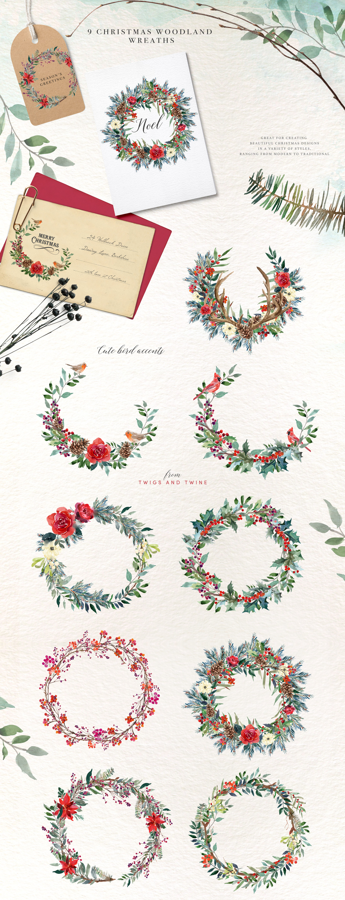 A Woodland Christmas Graphic Set