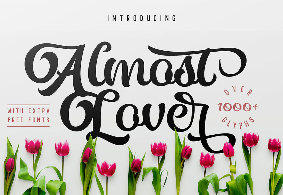 Almost Lover + Free Fonts Bonus