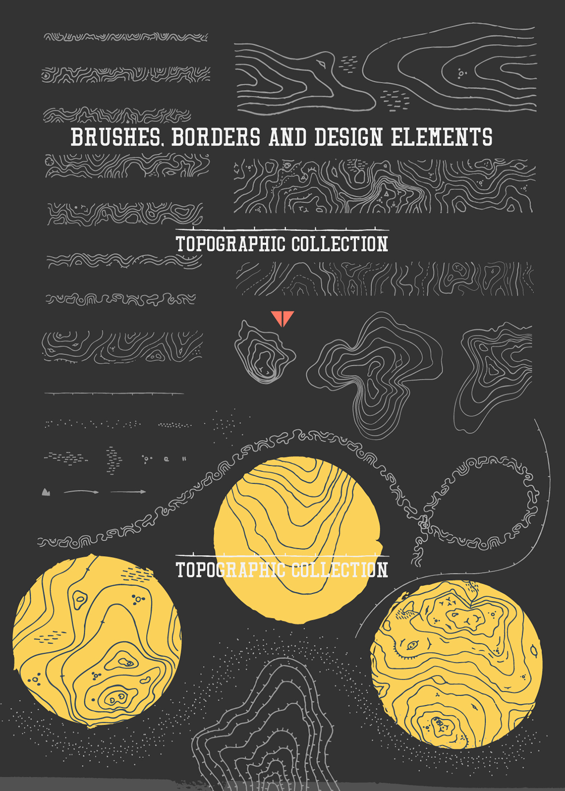 Authentic Topographic Design Collection