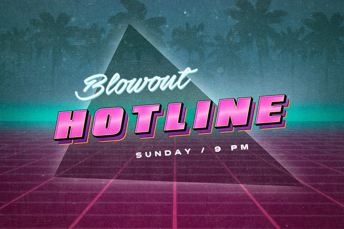 Back to the 80s Retro Text Effects