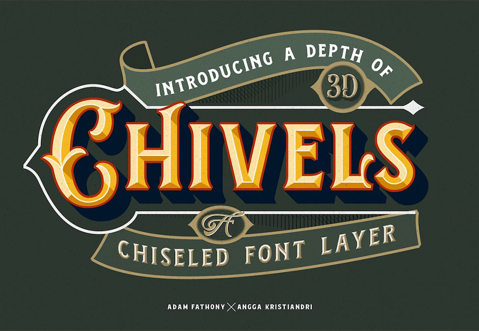 Chivels - Chiseled Font Layer