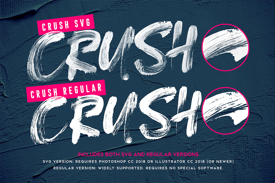 Crush SVG Font