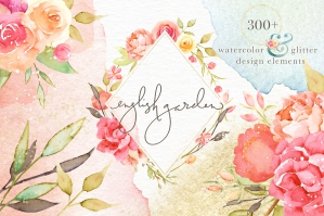 English-Garden-Watercolor-Bundle-cover
