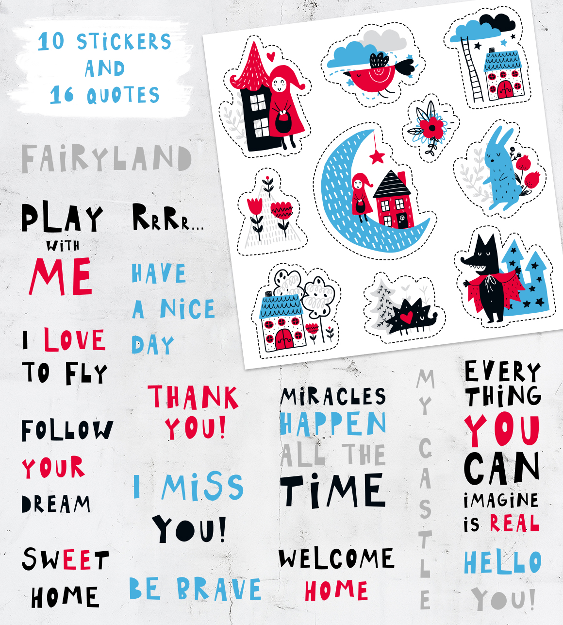 Fairytale Time - Clipart Collection