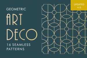 Geometric Art Deco Patterns-cover