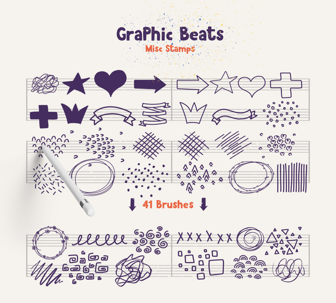Graphic Beats: Brushes for ProCreate