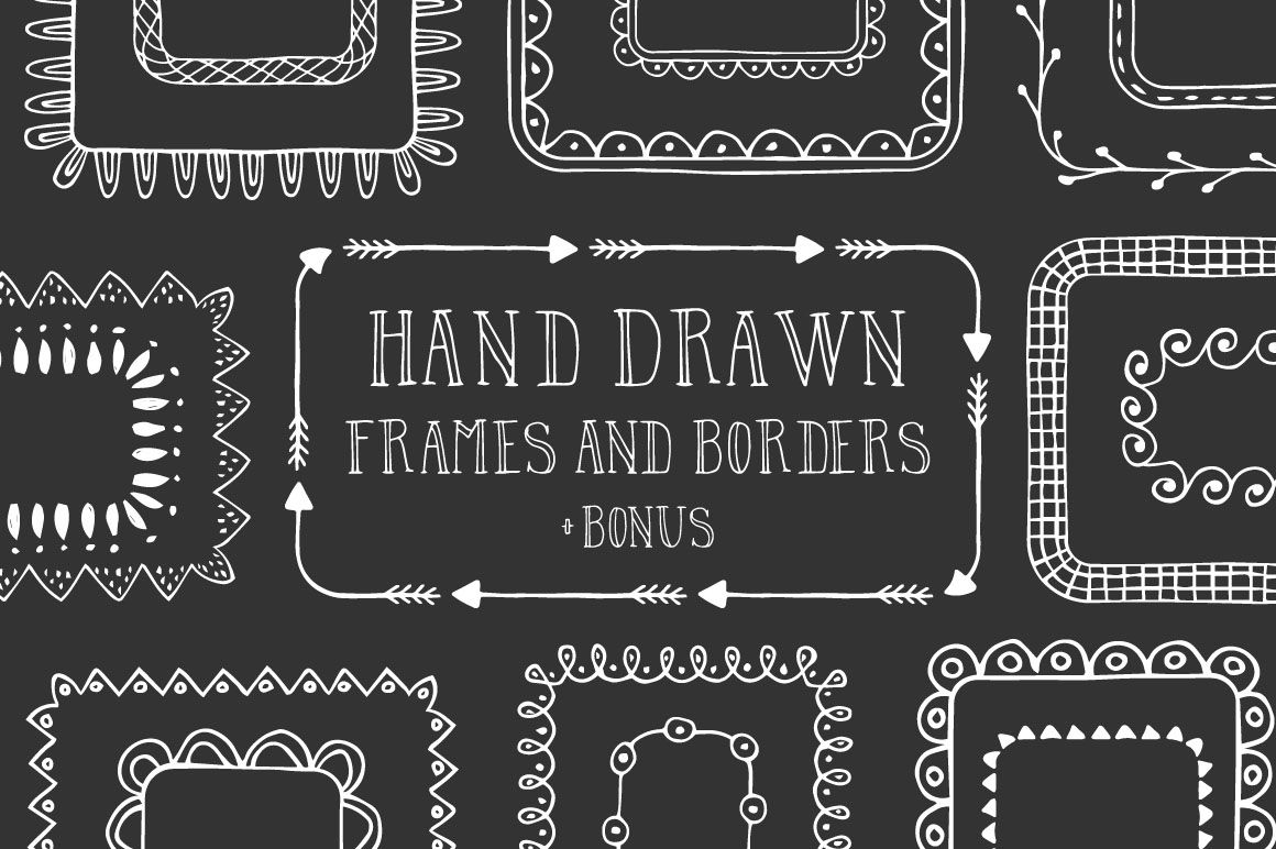 Hand Drawn Frames & Borders
