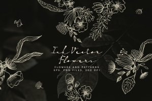 Ink-Vector-Flowers-cover