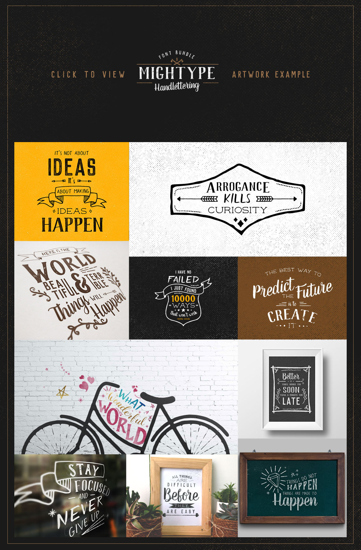 Mightype Handlettering Font Pack