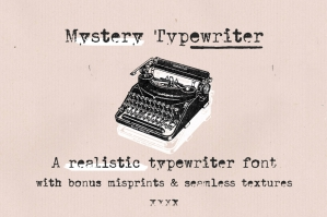 Mystery-Typewriter-font-cover