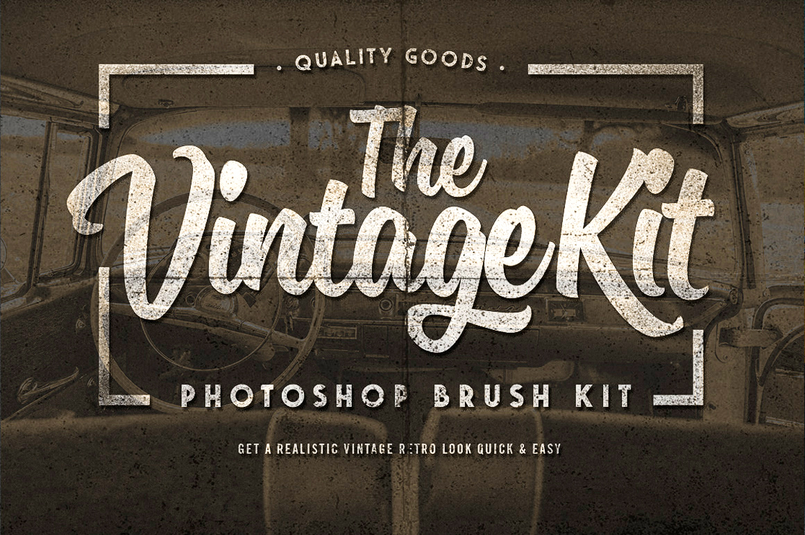 The Vintage Kit - Photoshop Brushes